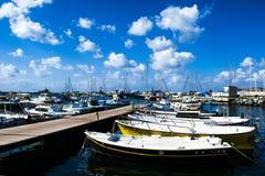 Boote am Pier stockfoto