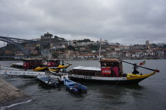 Boote in Porto Stockbild
