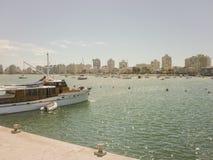 Boote an Punta del Este-Hafen Stockfoto