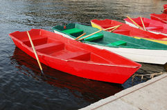 Boote in See stockfoto