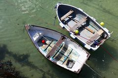 Boote in St. Ives stockbilder