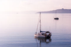 Boote an St. Mawes Stockfoto
