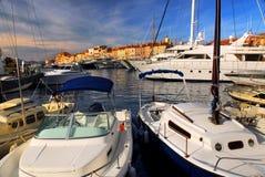 Boote an St.Tropez lizenzfreie stockfotografie