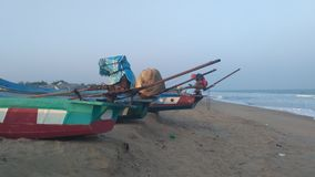 Boote am Strand Lizenzfreies Stockfoto