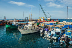 Boote in Tel Aviv Stockbild