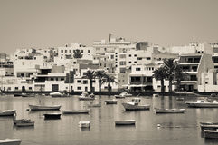 Boote in Teneriffa Stockfotos