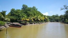 Boote am Ufer Lizenzfreies Stockfoto