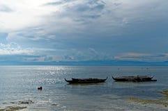 Boote am Ufer während einer Ebbe Lizenzfreies Stockbild