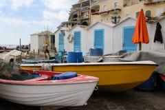 Boote und Badeanstalten Stockfotos