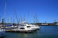 Boote und Hafen Lizenzfreies Stockfoto