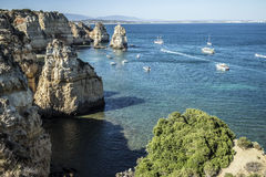 Boote und Ozean Stockfotografie