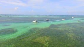 Boote und punta cana Stockbild