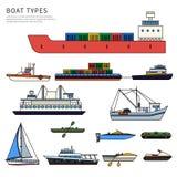 Boote und shipson Weiß Lizenzfreie Stockfotografie