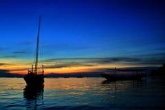 Boote und Sonne Lizenzfreies Stockbild