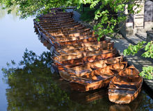 Boote verankert Stockfotografie