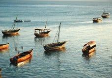 Boote von Zanzibar Lizenzfreie Stockfotos