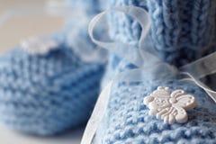 Bootees do bebê Imagens de Stock Royalty Free
