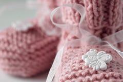 Bootees do bebê Imagens de Stock