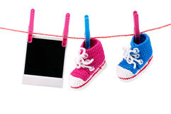 Bootees do bebê Imagem de Stock Royalty Free