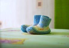 Bootees para el bebé Fotografía de archivo libre de regalías
