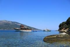 Bootes auf Ägäischem Meer Stockfotografie