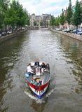 Bootfahrt in Amsterdam Lizenzfreies Stockfoto