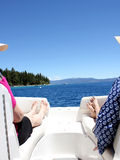Bootfahrt auf dem See Stockbild