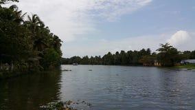 Bootfahrt in Azhapuzha, Kerala lizenzfreies stockfoto