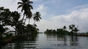 Bootfahrt in Azhapuzha, Kerala, Indien Stockfotos