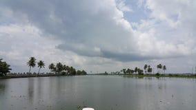 Bootfahrt in Azhapuzha, Kerala, Indien Lizenzfreie Stockbilder