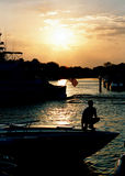 Bootfahrt in Fort Lauderdale stockfoto
