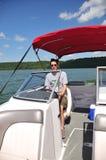 Bootfahrt in Indiana USA lizenzfreie stockfotografie