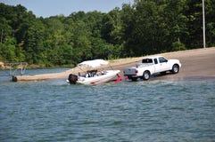 Bootfahrt in Indiana, USA lizenzfreie stockbilder