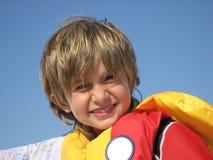 Bootfahrt-Junge stockbilder