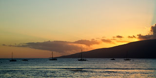 Bootfahrt nahe Maui Stockbild