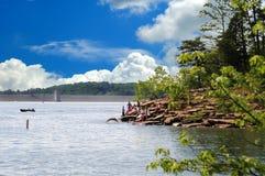 Bootfahrt und Schwimmen in Kentucky Stockbild