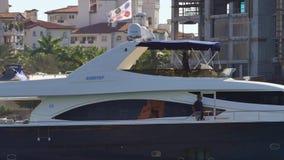 Bootfahrt in Video Miamis 4k stock footage
