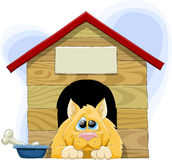 Booth. The dog is in the booth, vector vector illustration