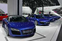 The Booth of Audi Stock Photography