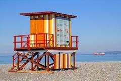 Booth at the Beach Stock Photos