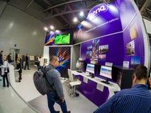 Booth of BenQ company at PhotoForum 2017 trade show Stock Photos
