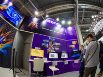 Booth of BenQ company at PhotoForum 2017 trade show Royalty Free Stock Images