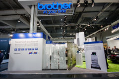 Booth of Brother company at CeBIT information technology trade show Royalty Free Stock Images