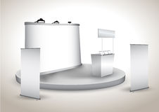 Booth Exhibition Display With Backdrop Stock Photography