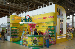 Booth at flower show Stock Photos