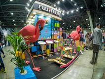 Booth of Fujifilm company for promotion Instax cameras at PhotoForum