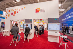 Booth of Hasso Plattner Institut at CeBIT Royalty Free Stock Image