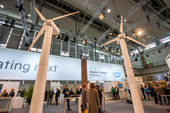 Booth of Hewlett Packard Enterprise company at CeBIT Stock Photo