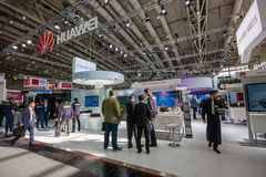 Booth of Huawei company at CeBIT information technology trade show Stock Photography