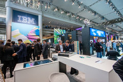 Booth of IBM company at CeBIT Royalty Free Stock Photo